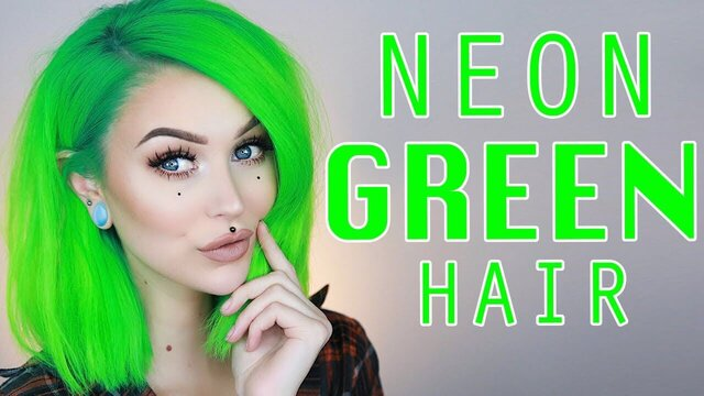 neon green hair dye near me