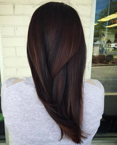 7. Smooth Dark Chocolate Hair Color