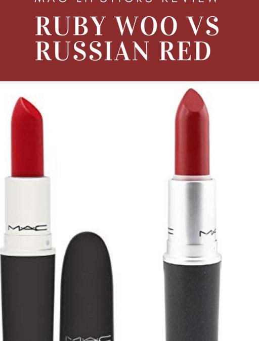 MAC Ruby Woo VS Russian Red